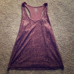 Rose purple-ish sequined top. Barely worn.